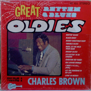 Charles Brown ‎– Great Rhythm & Blues Oldies Volume 2 - Charles Brown - VG+ Lp Record 1974 Blues Spectrum USA Vinyl - Rhythm & Blues / Piano Blues