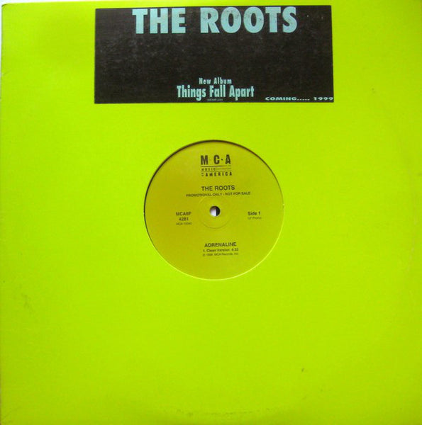 "The Roots - Adrenaline - VG 12"" Single USA 1998 Promo - Hip Hop"