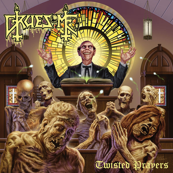 Gruesome ‎– Twisted Prayers - New Vinyl Lp 2018 Relapes Limited Edition Pressing on Purple Vinyl - Death Metal