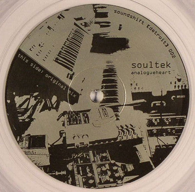 "Soultek ‎– Analogueheart - Mint 12"" Single Record 2007 soundshift USA Clear Vinyl - Detroit Techno / Minimal"