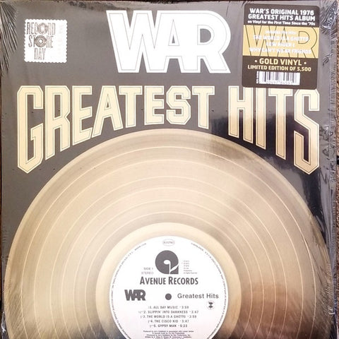 War ‎– Greatest Hits (1976) - New Lp Record Store Day Black Friday 2020 Avenue USA RSD Gold Vinyl - Funk / Soul / Disco