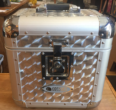 "Odyssey DJ Cases - Diamond Chrome Utility Flight Case for 12"" LP Vinyl Records"