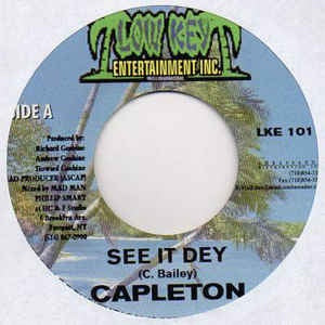 "Capleton / Madman- See It Dey / Convic Apprentis- M- 7"" Single 45RPM- 2001 Low Key Entertainment- Reggae/Dancehall"