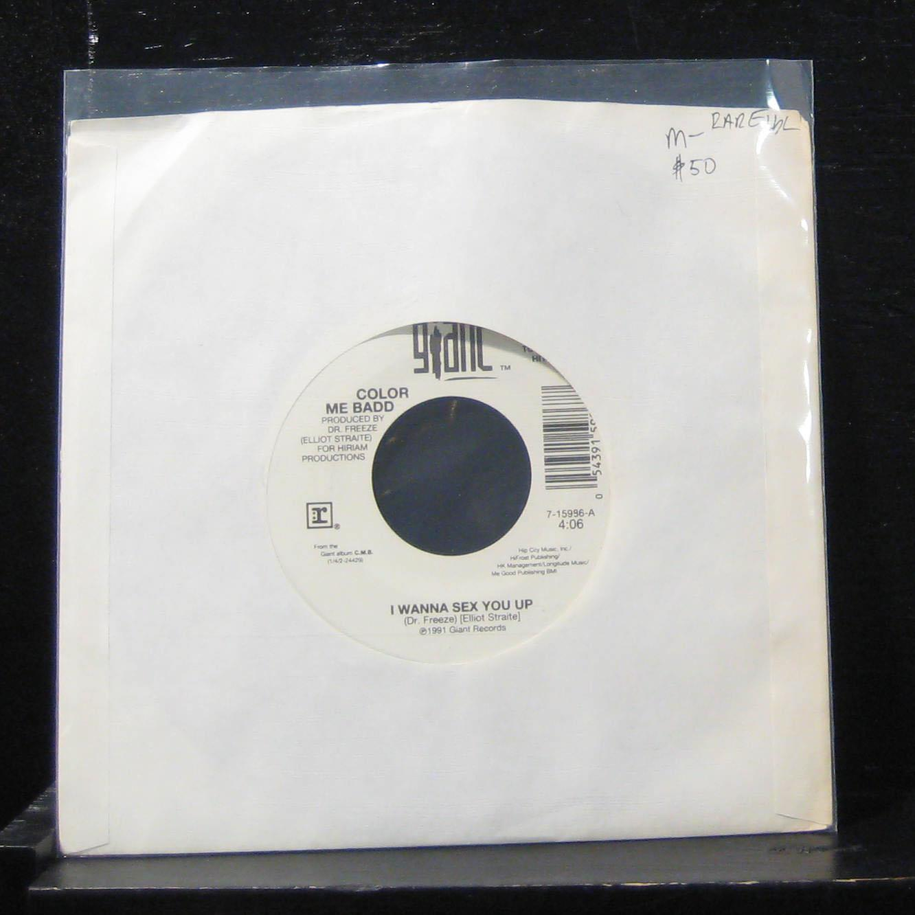 "Color Me Badd - I Wanna Sex You Up / Thinkin Back 7"" Mint- 7-15986 Vinyl 45 Rare"