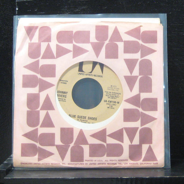 "Johnny Rivers - Blue Suede Shoes / Stories To A Child 7"" VG+ UA-XW198-W Vinyl 45"