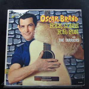 Oscar Brand With The Tarriers - Folk Songs For Fun LP Mint- DL 4275 Mono Promo