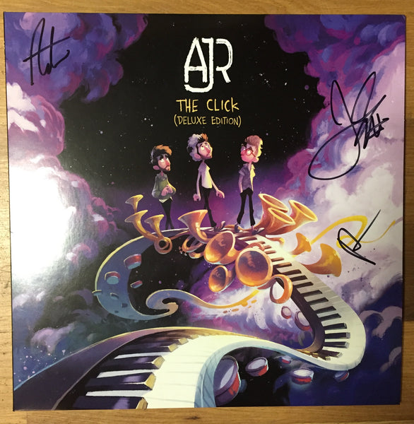 AJR - The Click (Autographed by Band!) - New Vinyl Lp 2018 BMG Deluxe  Edition with Bonus 7