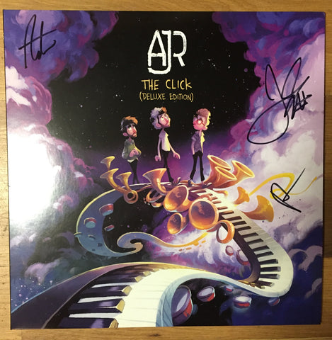 "AJR - The Click (Autographed by Band!) - New Vinyl Lp 2018 BMG Deluxe Edition with Bonus 7"" Single - Electro Pop"