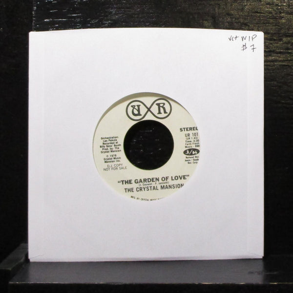 "The Crystal Mansion - The Garden Of Love 7"" VG+ Promo Vinyl 45 UR 101 USA 1976"