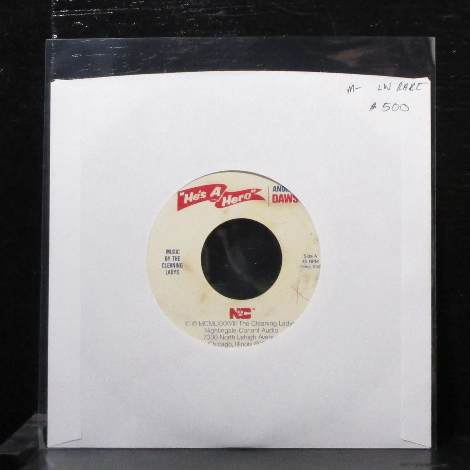 "The Cleaning Ladys - He's A Hero (Andre Dawson) 7"" Mint- Vinyl 45 1988"