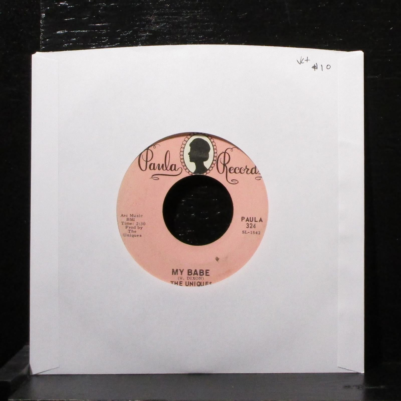 "The Uniques - My Babe / Toys Are Made For Children 7"" VG+ Vinyl 45 Paula 324"
