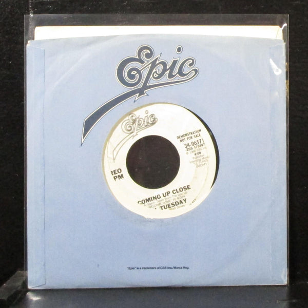 "'Til Tuesday - Coming Up Close 7"" Mint- Promo Vinyl 45 Epic 34-06571 USA 1986"