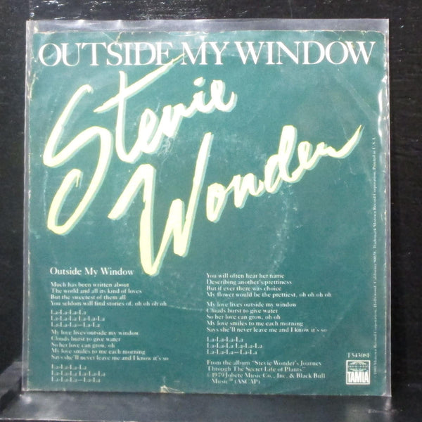"Stevie Wonder - Outside My Window / Same Old Story 7"" VG+ Promo Vinyl 45"