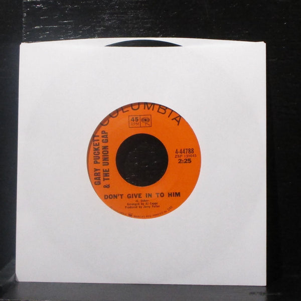 "Gary Puckett & Union Gap - Don't Give In To Him 7"" VG+ Vinyl 45 Columbia 4-44788"