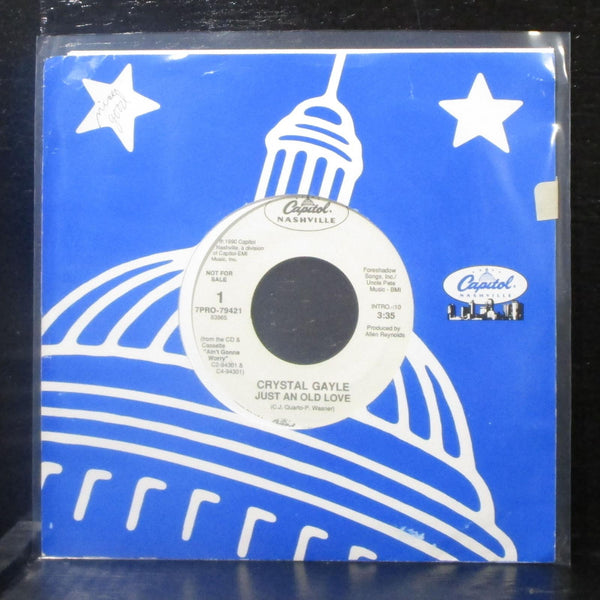 "Crystal Gayle - Just An Old Love 7"" Mint- Promo Vinyl 45 Capitol 7PRO-79421 USA"