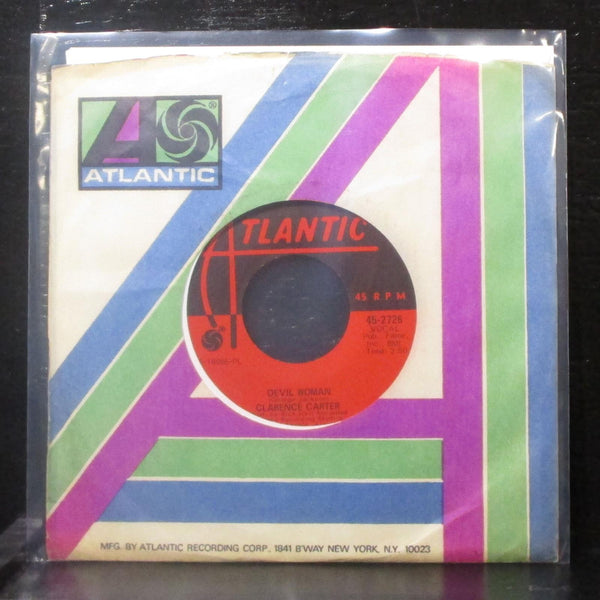 "Clarence Carter - Devil Woman 7"" VG+ Vinyl 45 Atlantic 45-2726 USA 1970"