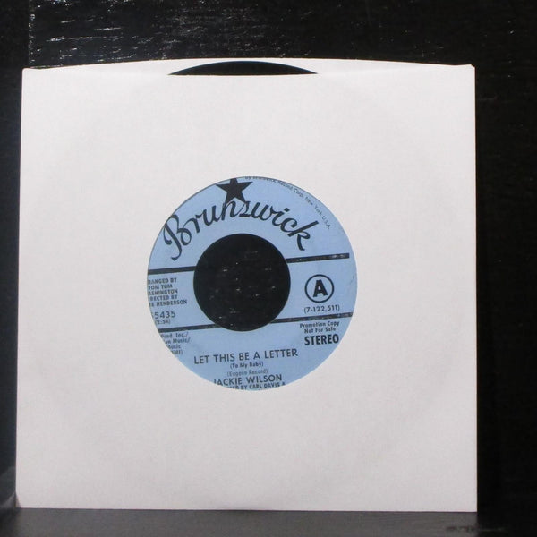 "Jackie Wilson - Let This Be A Letter / Didn't I 7"" VG+ Promo Vinyl 45 Brunswick"