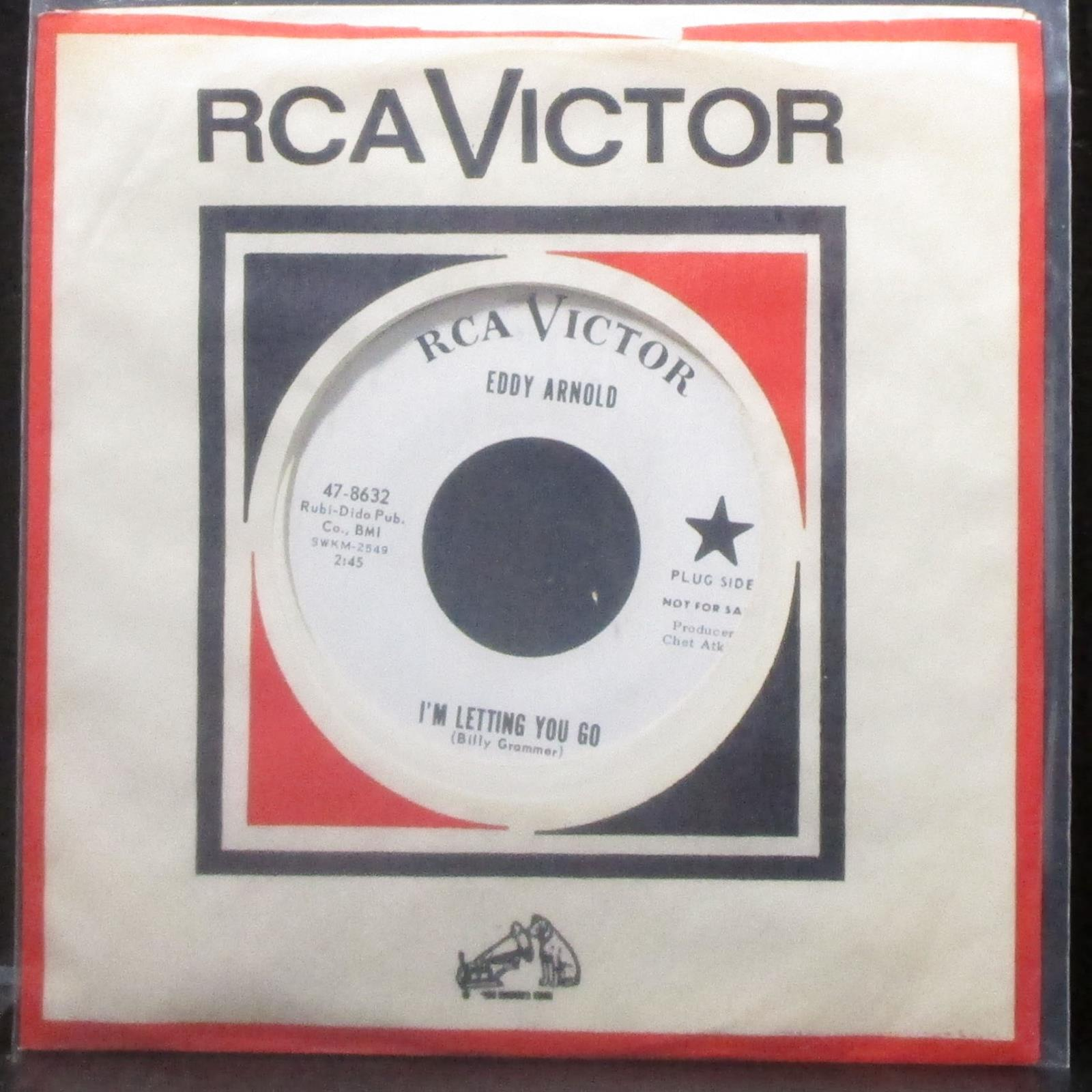 "Eddy Arnold - I'm Letting You Go / The Days Gone By 7"" Mint- Promo Vinyl 45 RCA"