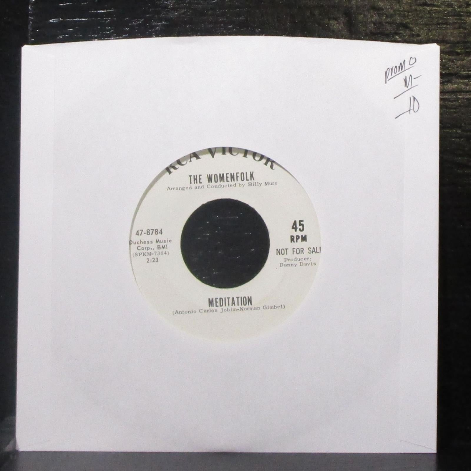 "The Womenfolk - The Last Thing On My Mind / Meditation 7"" Mint- Promo Vinyl 45"
