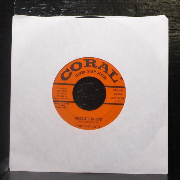 """Big"" Tiny Little - The Gang Song / Doodle Doo Doo 7"" VG+ Vinyl 45 Coral 65583"