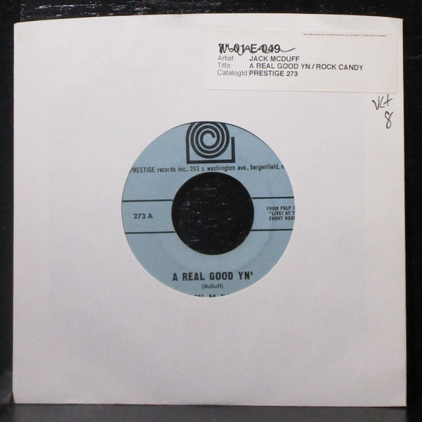 "Jack McDuff - A Real Good Yn' / Rock Candy 7"" VG+ Vinyl 45 Prestige 273 USA 1963"