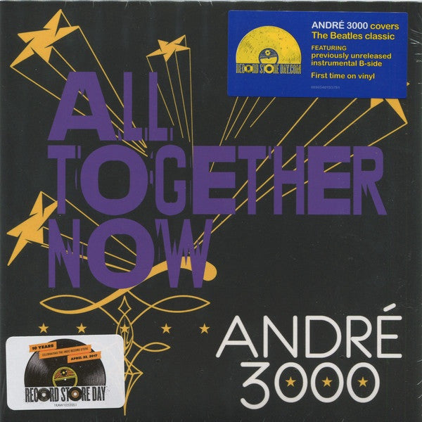 "Andre 3000 - All Together Now - New 7"" Vinyl 2017 Sony Legacy Record Store Day Exclusive, Limited to 5000 - R&B / Beatles Cover"