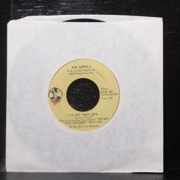 "Air Supply - Here I Am / I've Got Your Love 7"" VG- Vinyl 45 BTSC 105 Canada 1981"