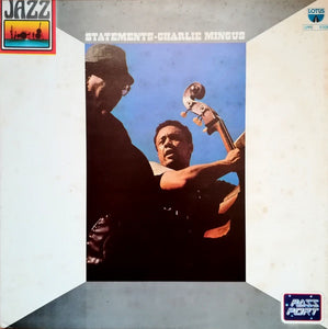 Charles Mingus ‎– Statements - VG+ Lp Record 1980 Italy Import Original Vinyl - Jazz / Free-Jazz / Free Improvisation