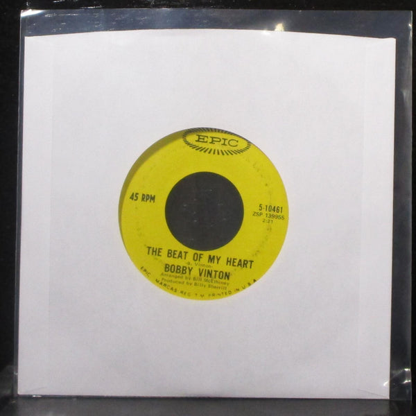 "Bobby Vinton - To Know You Is To Love You / The Beat Of My Heart 7"" VG+ Vinyl 45"