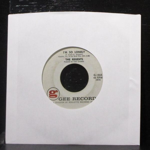 "The Regents - Barbara-Ann / I'm So Lonely 7"" VG Vinyl 45 Gee G-1065 USA 1961"