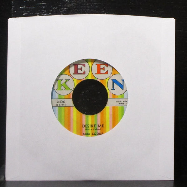 "Sam Cooke - For Sentimental Reasons / Desire Me 7"" VG+ Vinyl 45 Keen lbl var"