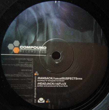 "DJ Flux - Ransack (Usual Suspects Remix) / Headjack - VG+ 12"" Single USA - Drum n Bass"