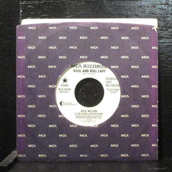 "Rick Nelson  Rock And Roll Lady Mint- Promo 7"" Vinyl 45 MCA 40458 Rock 1975"