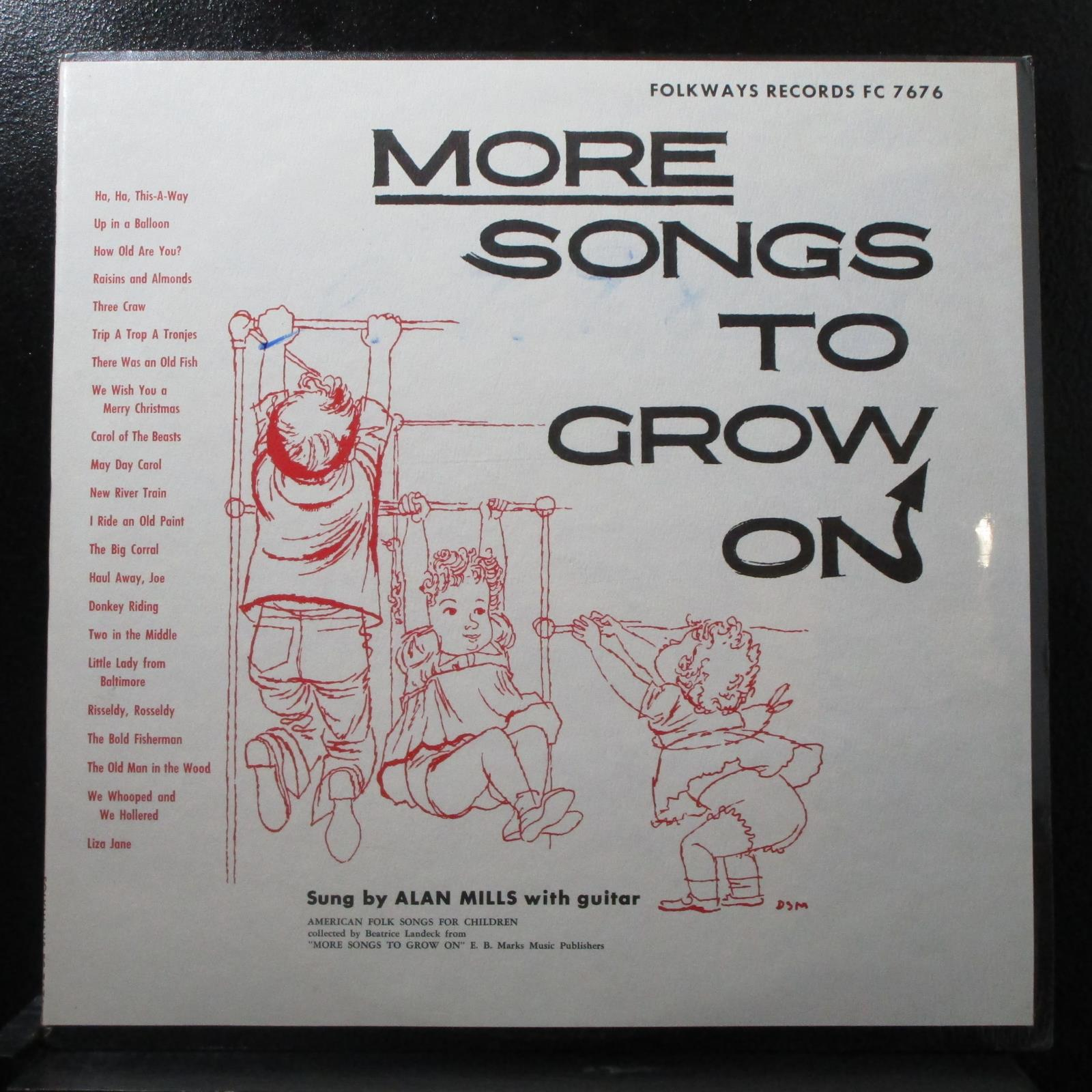 Alan Mills - More Songs To Grow On sealed Mono LP Folkways FC 7676 USA 1955