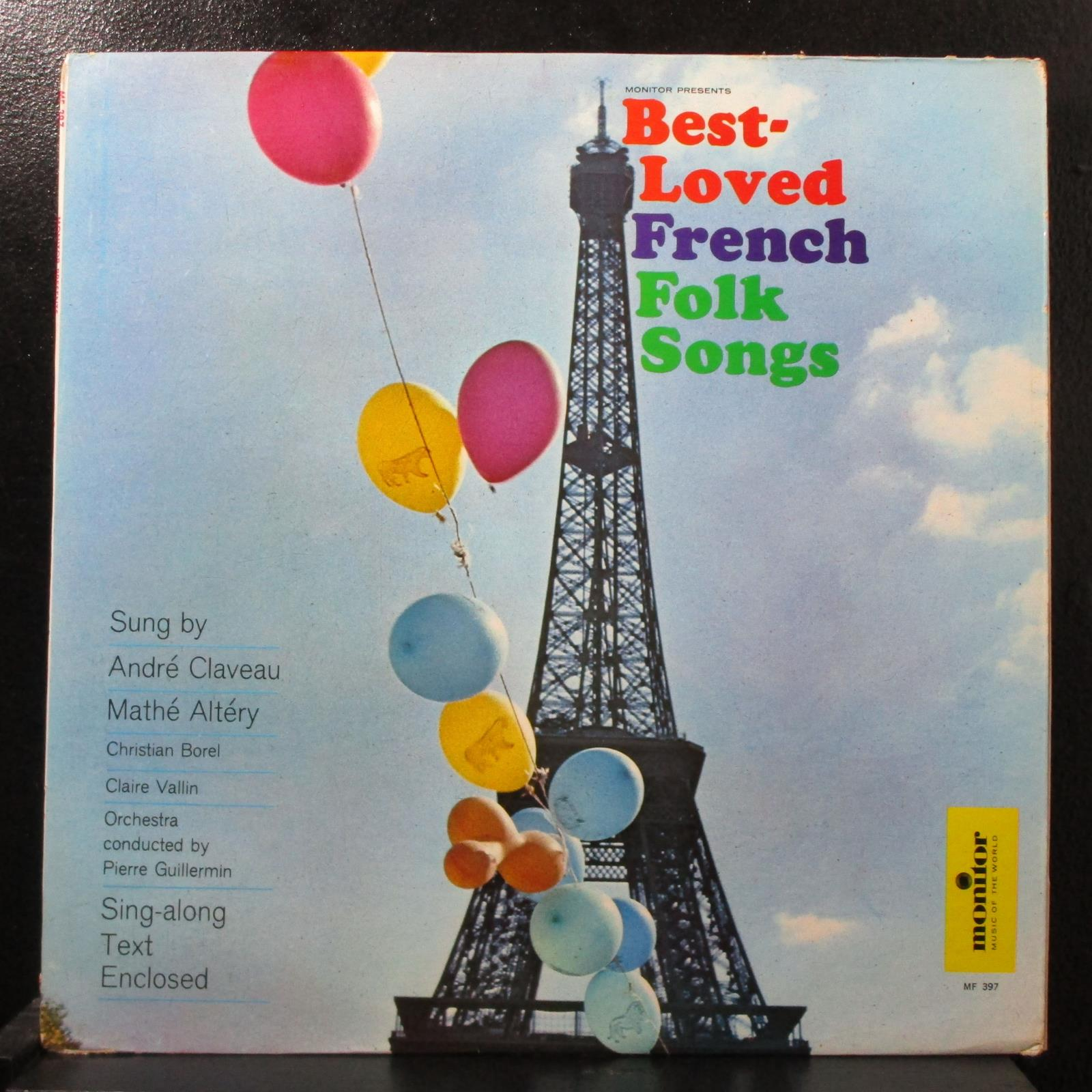 Various - Best-Loved French Folk Songs VG+ Mono LP Monitor MF 397 USA 1963