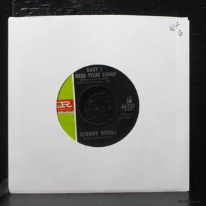 "Johnny Rivers - Baby I Need Your Lovin' 7"" VG+ Imperial IM 66227 USA 1967"