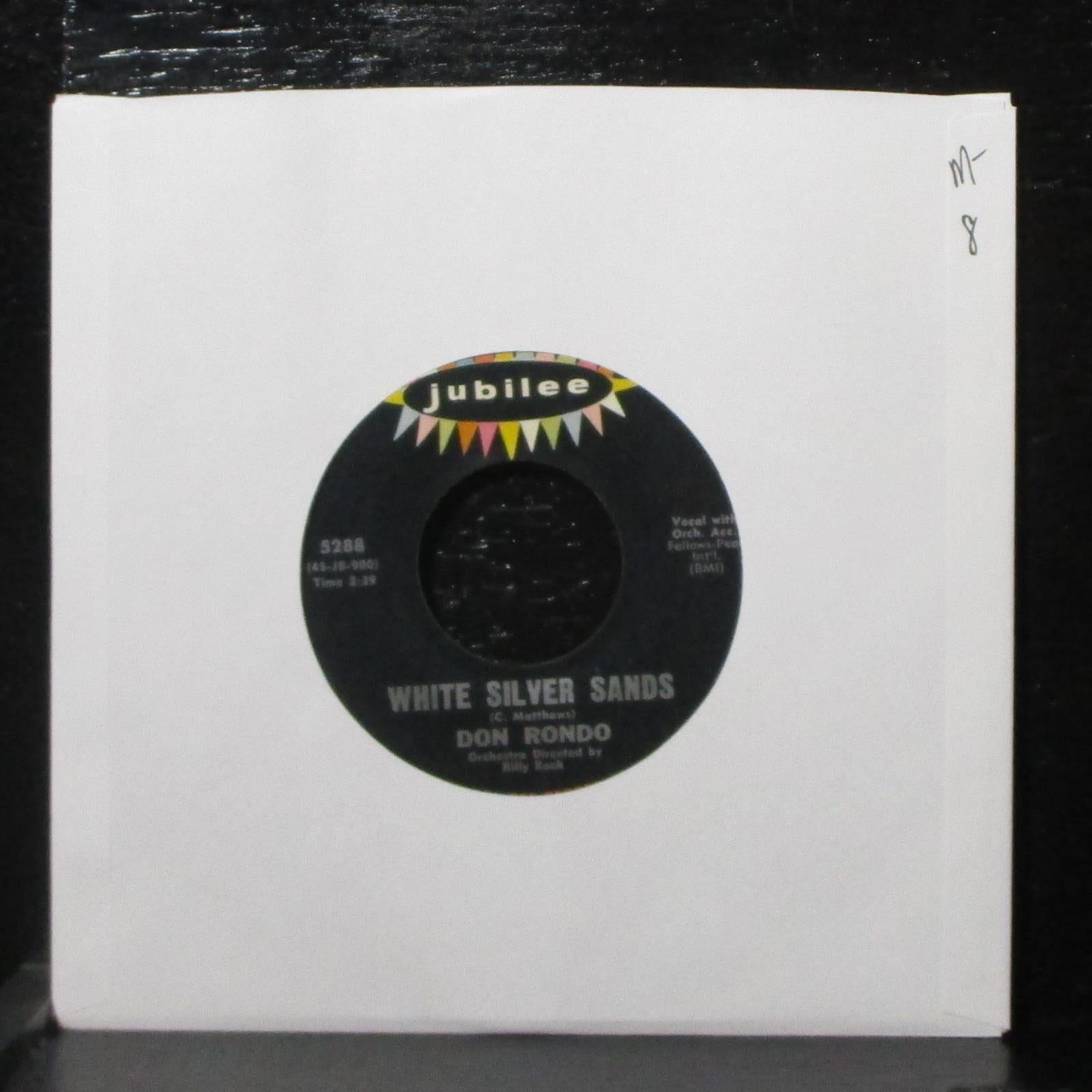 "Don Rondo - White Silver Sands / Stars Fell On Alabama 7"" Mint- Jubilee 5288 USA"