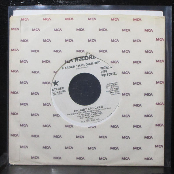 "Chubby Checker - Harder Than Diamond 7"" Mint- Promo MCA-52043 USA 1982"
