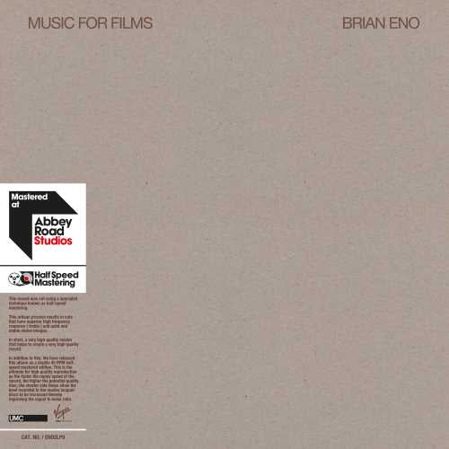 Brian Eno — Music For Films - New Vinyl 2 LP Record 2019 Half Speed Mastering Reissue - Electronic / Ambient