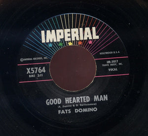 "Fats Domino - Good Hearted Man / Let The Four Winds Blow - VG+ 7"" Single 45RPM 1961 Imperial USA - Rock"