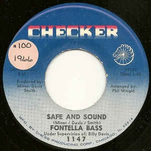 "Fontella Bass- Safe And Sound / You'll Never Ever Know- VG 7"" Single 45RPM- 1966 Checker USA- Funk/Soul"