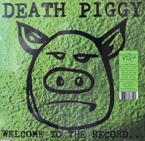 Death Piggy ‎(GWAR) – Welcome To The Record - New Lp Record Store Day 2020 Anti-Corp USA RSD Vinyl - Punk Rock