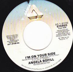 "Angela Bofill - I'm On Your Side / Gonna Make It Up To You VG+ - 7"" Single 45RPM 1983 Arista USA - Funk/Soul"
