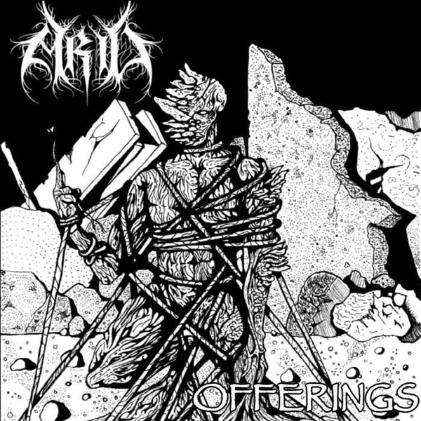 Arid - Offerings - New Vinyl 2016 Dystopian Cult Records Limited Edition Tape (150!) - Chicago IL Blackened-Crust / Hardcore