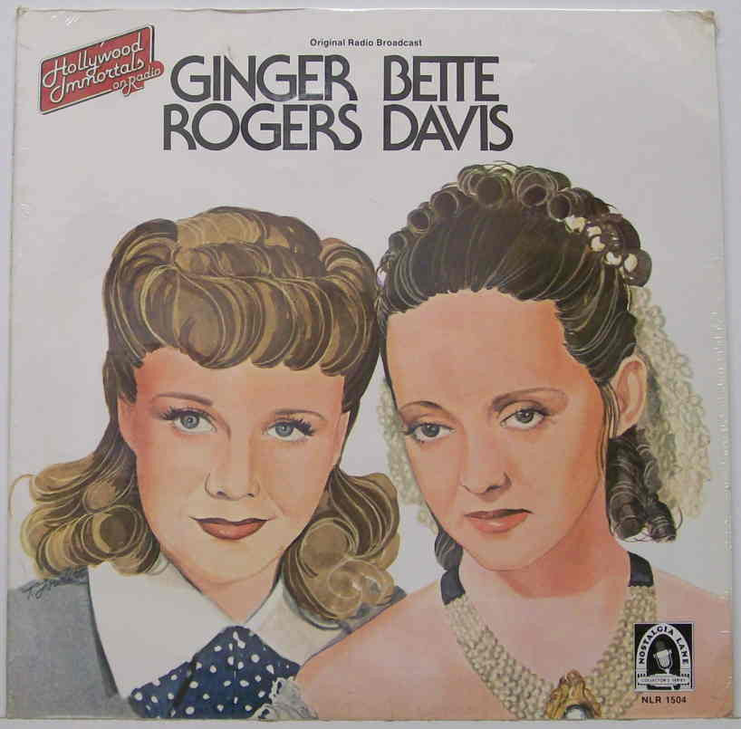 Bette Davis & Ginger Rogers - Original Radio Broadcast - Mint- 1978 Mono USA Record - Soundtrack