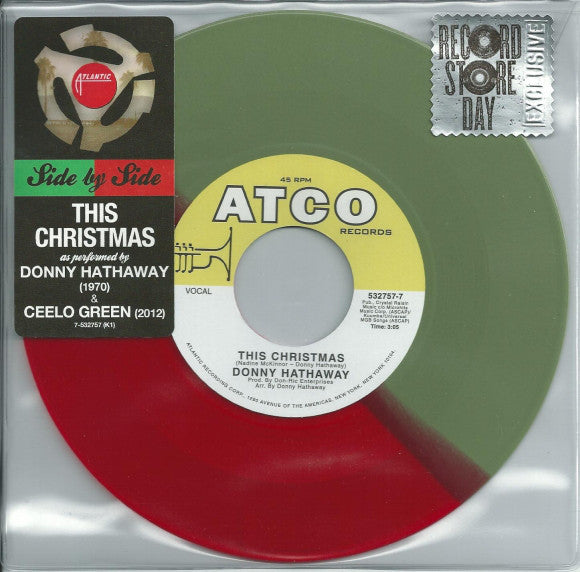 Donny Hathaway This Christmas.Donny Hathaway Ceelo Green This Christmas New Vinyl Record 2012 Atlantic Rsd Black Friday Limited Edition Red Green 7