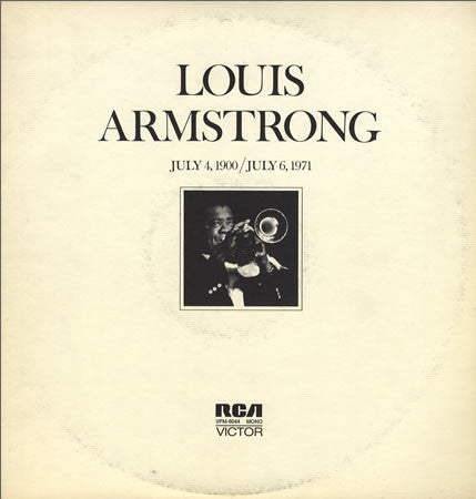 Louis Armstrong - July 4, 1900 - July 6 1971 - Mint- 2 Lp Set Mono USA 1971 - Jazz