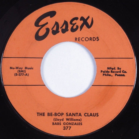"Babs Gonzales ‎– The Be-Bop Santa Claus / Manhattan Fable VG+ 7"" Single 45 rpm 1954 Essex USA - Jazz / Bop"