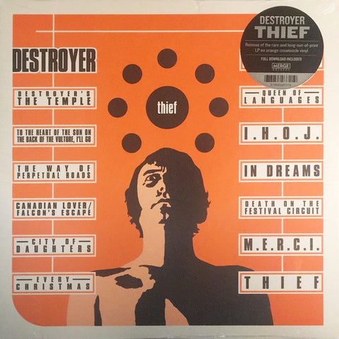 Destroyer ‎– Thief (1999) - New Lp Record 2018 Merge USA Orange Creamsicle Vinyl & Download - Indie Rock / Folk Rock