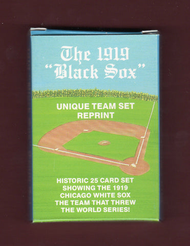 "The 1919 Chicago ""Black Sox"" - 25 Baseball Card Set of the Chicago White Sox - Vinatge"